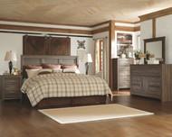 Juararo Dark Brown 6 Pc. Dresser, Mirror, Chest, King Panel Headboard & 2 Nightstands