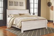 Willowton Whitewash California King Panel Bed