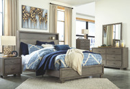 Arnett Gray 5 Pc. Dresser, Mirror, Chest & Queen Storage Bed
