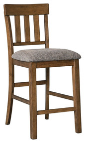 Flaybern Brown Upholstered Barstool