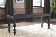 Dannerville Antique Black Accent Bench