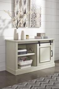 Jonileene White/Gray Home Office Cabinet