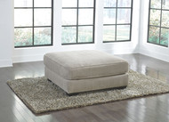 Ardsley Pewter Oversized Accent Ottoman