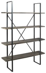 Gilesgrove Black/Gray Bookcase