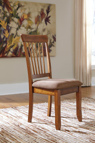 Berringer Rustic Brown Dining Upholstered Side Chair