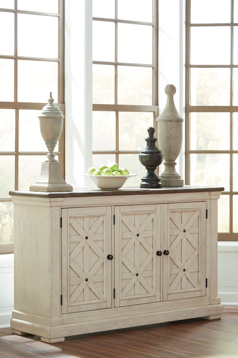 Admirable Bolanburg Antique White Dining Room Server Download Free Architecture Designs Embacsunscenecom
