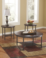 Sandling Rustic Brown Occasional Table Set