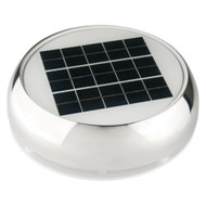 "Afi/Marinco N20804S Day/Night Solar-Rechargeable Battery Cabin Vent 4"" St. Steel"