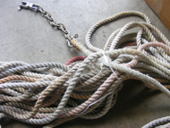 Marine Boat White Rope with Link Chain 200' for Windlass