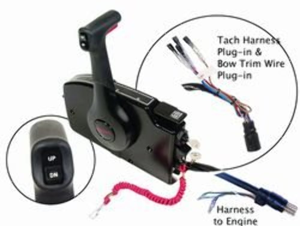 Mercury Remote Control Box Shifter Side Mount T/T 20' Wire Harness on mercury wiring diagrams, mercury harness part number, mercury tach wiring, mercury wiring color code, mercury voltage regulator,