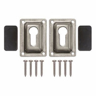 JIF Marine EHD Flush Mounting Set for Removable Pontoon Boat Ladder JIF DUF4 MD