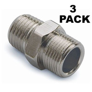 "3 PACK Teleflex SeaStar Straight Fitting 1/4"" NPT to 3/8"" Nylon Tube HF-5528 MD"