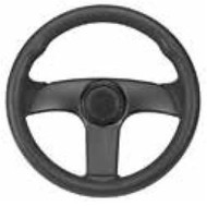 "DetMar Viper Steering Wheel 12-2502AC Diameter 13.5"" Dish: 4"" MD"