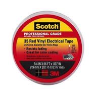 "3/4"" x 66‰Ûª 3M Scotch Color Coding Vinyl Electrical Tape 35 RED 10810 MD"