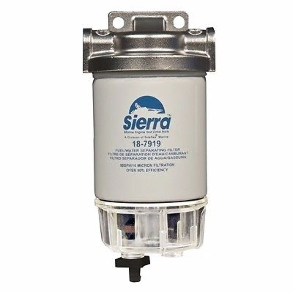 "Sierra Fuel//Water Separating Filter 1//4/""Aluminum AquaVue Bowl 18-7932 Marine MD"