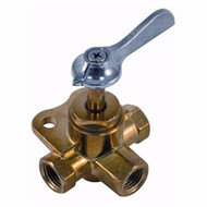 "Marpac 3-Way and 4-Way Valve, 4W FM1/4""X4"" Brass Marine 033304-10 MD"