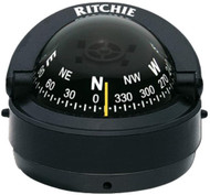 Ritchie Explorer Compass S-53 Traditional Black Surface Mount Boat Marine