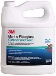 3M Marine One-Step Fiberglass Cleaner and Wax 1 Gallon Protect Polish 09011 MD