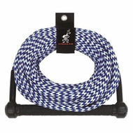 Airhead Water Ski Rope 75' 1 section color blue &white candy strip AHSR-75 MD
