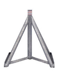 "Brownell Boat Stands Galvanized Motor Boat Stand Base Only 18-25"" MB4GBASE LC"