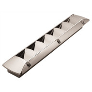 """Attwood Louvered Vent 1495B5 Chrome Plated Plastic 2-1/4""""x16"""" Open Hole LC"""
