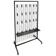"Marpac DISPLAY 36"" Rolling Display Rack 36""x48"" w/  24 Hooks    MD"