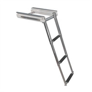 Boater Sports LMP1008 Under-Deck Ladder 3 Steps 304 Grade Stainless Steel MD