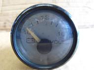 Faria Boat Voltmeter Volt Gauge Meter Black Bezel VP7077A Marine 4 Inch