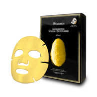 JM SOLUTION JM透明質酸蠶絲補水面膜 Water Luminous Golden Cocoon Mask Black 10PCS