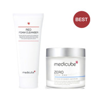 Medicube 毛孔 pore set(2pcs)cleanser+pore pad