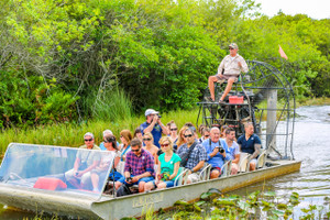 Everglades Airboat Tour + Transportation + Park Ticket