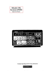 196 System DMM Instruction Manual | Keithley