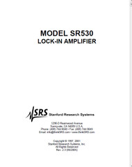 SR530 Lock-In Amplifier, Manual | Stanford Research Systems