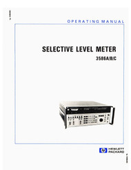 3586A/B/C Selective Level Meter, Manual | HP Agilent Keysight