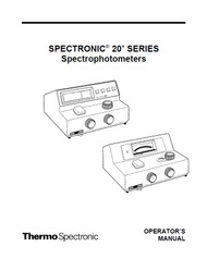 Spectronic 20+ SERIES Spectrophotometers - Thermo Spectronic (Operator's Manual)