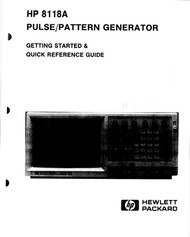 8118A Pulse/Pattern Generator, Started & QR Guide | HP Agilent Keysight
