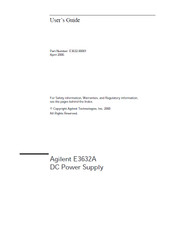 E3632A DC Power Supply, User's Guide | HP Agilent Keysight