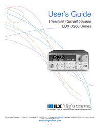 LDX-3200 Series Precision Current Source, User's Guide | ILX Lightwave, Newport