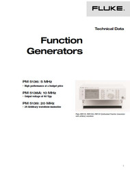 PM5136 / PM5138A / PM5139 Function Generators, Technical Data | Fluke