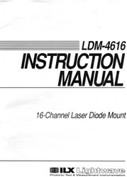 LDM-4616 16-Channel Laser Diode Mount, Instruction Manual |ILX Lightwave, Newport