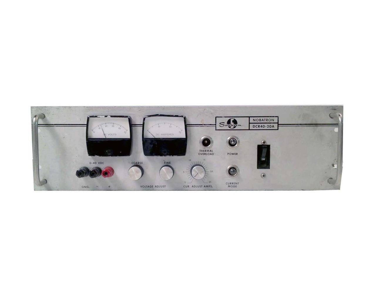 DCR40-20A 40 V, 20 AMP, Power Supply | Sorensen