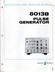 8013B Pulse Generator, Operating and Service Manual | HP