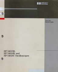 54615B 54161B and 54616C Ocilloscopes, User and Service Guide   HP Agilent Keysight