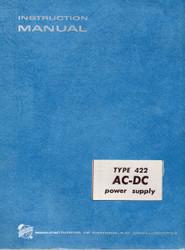 422 AC-DC Power Supply, Manual | Tektronix