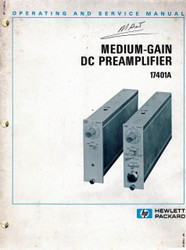 17401A Medium-Gain DC Preamplifier Manual | HP