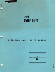 297A Sweep Drive, Operation & Service Manual | HP