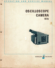 197A Oscilloscope Camera Operation & Service Manual | HP