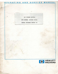 6253A DC Power Supply DPR Series,Operating & Service Manual   HP