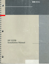 3325B Installation Hardcopy Manual | HP Agilent Keysight