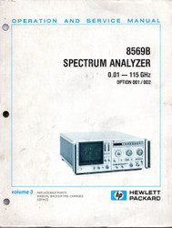 8569B Spectrum Analyzer, Volume 3 Operation and Service Manual | HP